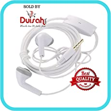 Duisah Universal Hands-free Earphones for Samsung Galaxy J5 YS with 3.5 mm Jack and Mic- (White, YS-21)