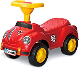 Toyshine Beetle Vintage Car Rider Ride-on Toy with Music, 1.5-3 Years, Assorted Color