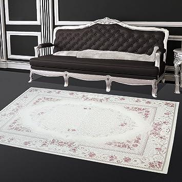 Teppich Hochwertig Sultan Wohnzimmer Acryl Landhaus Blumen Creme Rosa Grsse In Cm160 X 230 Cm Amazonde Kche Haushalt
