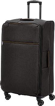 AmazonBasics - Belltown Wattierter Weichschalen-Rollkoffer - 78 cm, Schwarz