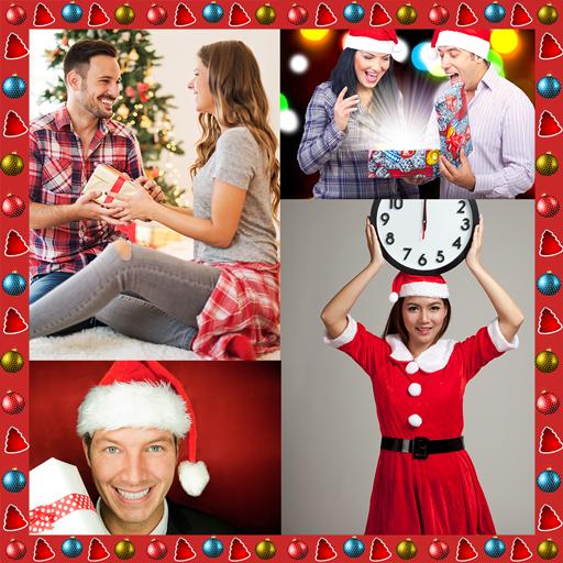 Neujahrsfoto Collage -