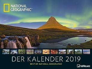 """Landschaftskalender 2019 - National Geographic """"Der Kalender"""" Posterkalender, Landschaftskalender, Naturkalender - 64 x 48 cm"""