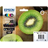 Epson 202 Serie Kiwi, Cartuccia Originale Getto d'Inchiostro Claria Premium, Formato XL, Multipack 5 Colori, con Amazon Dash