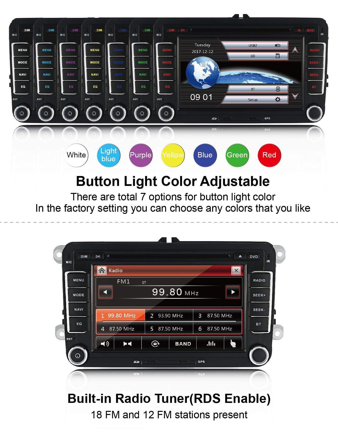 Yingly-Doppel-din-Autoradio-fr-VW-Radio-mit-Navi-Untersttzt-Radio-Touchscreen-Bluetooth-MicroSD-Lenkradsteuerung-Parkkamera-Mit-Karte-Karte