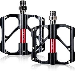 BEAUTY STAR® Fahrradpedale,Beautystar MTB BMX legiertem Aluminium Pedale mit Ultraleicht 155g Plattformpedale mit Anti Rutschpedal für Mountainbike, Rennrad, Stadtrad (2er Set)