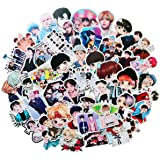 Pop Singer BTS Stickers 50PCS for Laptop and Water Bottles,Waterproof Durable Trendy Vinyl Laptop Decal Stickers Pack for Tee