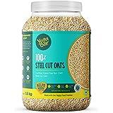 Yogabar Steel Cut Oats 1.5kg | Premium Oats, Gluten Free Oats with High Fibre, 100% Whole Grain, Non GMO | Protein Rich Healt