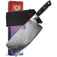 "DALSTRONG Cleaver Knife - Shogun Series X - Japanese AUS-10V Super Steel - Damascus - Hammered Finish - 7"" (152mm)"
