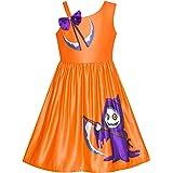 Sunny Fashion Vestido para niña Morado Tulipán Flor Corbata de moño Un Hombro 6-12 años