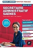 Réussite Concours - Secrétaire administratif-SAENES - Catégorie B - 2018-2019 - Préparation complète
