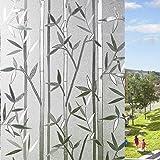 LEMON CLOUD Film Intimité pour Vitre Statique Décoratif Film Adhésif Fenêtre Vitrage Autocollant (Motif Bambou 60 cm × 200 cm