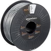 Amazon Basics Filament PLA pour imprimante 3D, 1,75 mm, Argenté, Bobine, 1 kg