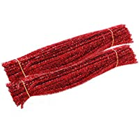 Carykon Tinsel Creative Arts Lot de 200 tiges de chenille 6 mm x 30,5 cm Rouge.