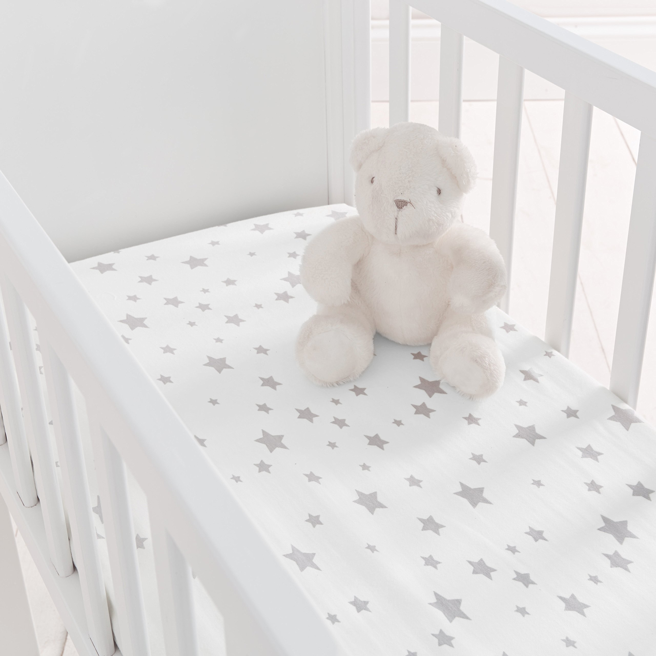 Crib Anti Fungal and Breathable Cover Bassinet or Cradle 89cm x 38cm x 5cm Crib Mattress with Waterproof Quilted Removable Cover for Bedside Cot