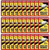 ZPO Kit de 1 Pegatinas para Esquinas muertas Oficiales para autob/ús de Peso Pesado L.17 x H.25cm