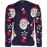"""NOROZE, maglione natalizio da uomo e da donna, motivo con verso di Babbo Natale """"HoHoHo"""""""