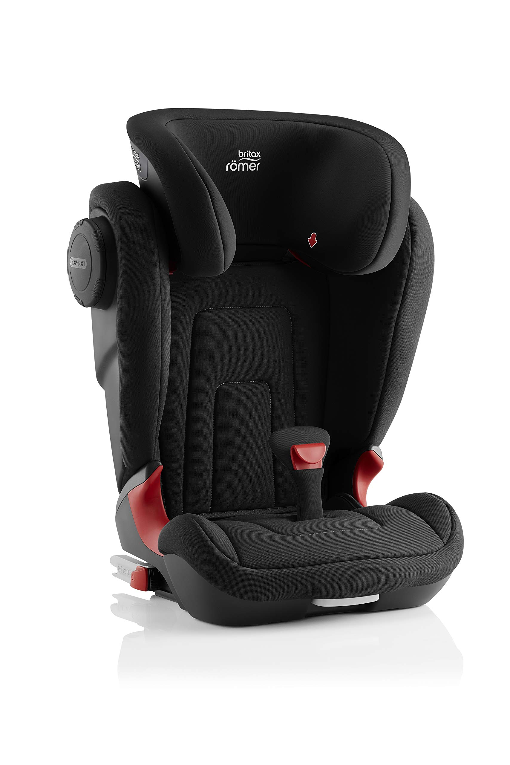 Britax Römer KIDFIX² S Group 2-3 (15-36kg) Car Seat - Cosmos Black  Advanced side impact protection - sict offers superior protection to your child in the event of a side collision. reducing impact forces by minimising the distance between the car and the car seat. Secure guard - helps to protect your child's delicate abdominal area by adding an extra - a 4th - contact point to the 3-point seat belt. High back booster - protects your child in 3 ways: provides head to hip protection; belt guides provide correct positioning of the seat belt and the padded headrest provides safety and comfort. 3