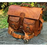 Urbankrafted beautiful leather men made worried laptop case shoulder bag messenger