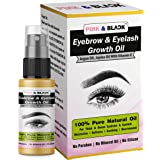 PINK & BLACK Eyebrow & Eyelash Growth Oil   Thinning Breakage and Fall Out - Grow Stronger,Fuller,Thicker,Regrowth   Eyebrow