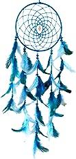 Paperiva Woollen Handmade Dream Catcher (Blue)