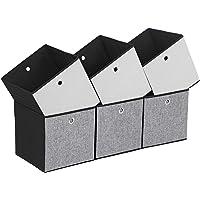 SONGMICS Lot de 6 Boîtes de Rangement Pliables, Cubes de Rangement pour Vêtements, Organiseur de Jouets, 30 x 30 x 30 cm…