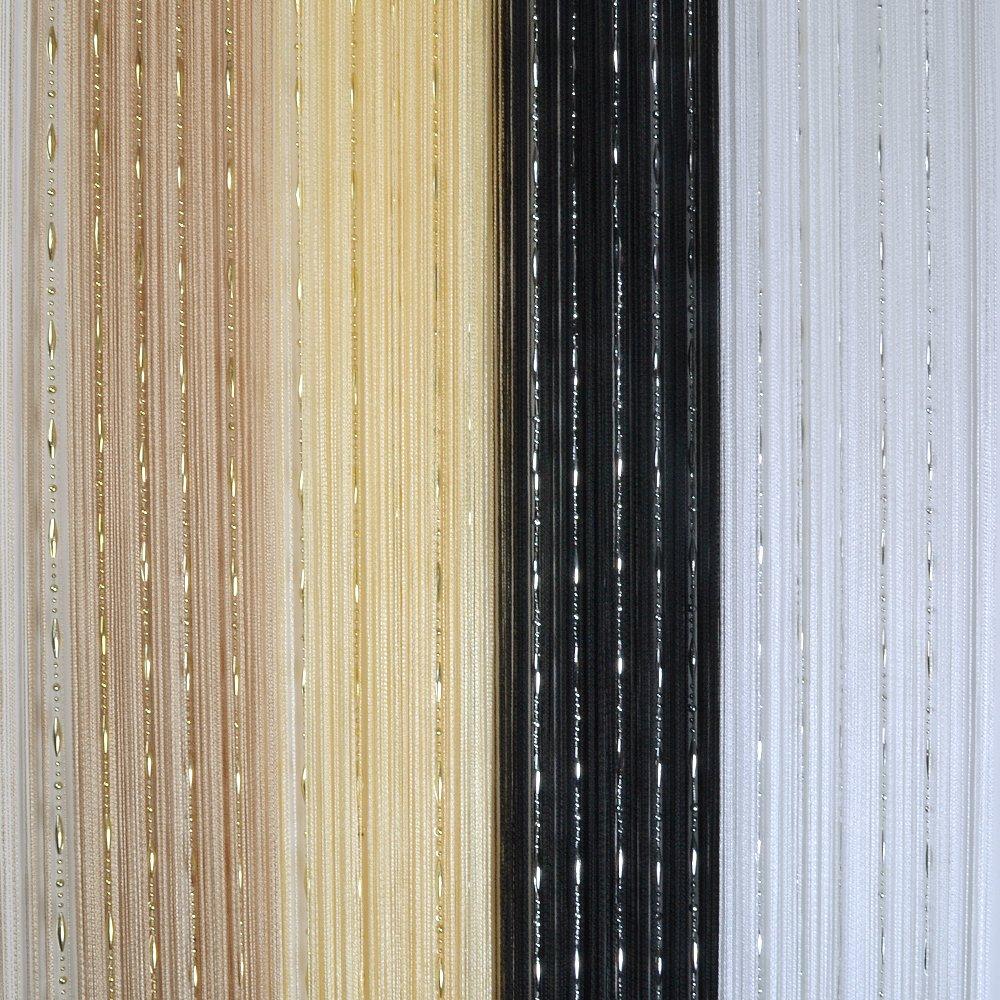 Simple rideau de fils pour portefentre avec perles for Rideau exterieur porte fenetre