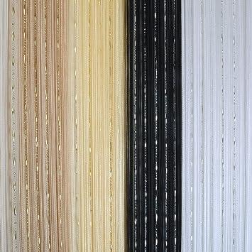 rideau de fils pour portefentre avec perles brillantes x cm amazonfr cuisine u maison with. Black Bedroom Furniture Sets. Home Design Ideas