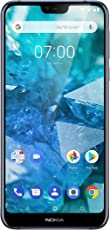 Nokia 7.1 Dual Sim Smartphone (15,38 cm (5,84 Zoll) Full HD Display, 32 GB interner Speicher, Android 8.1) blau