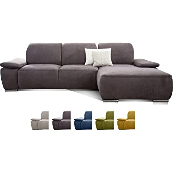 Cavadore Ecksofa Tabagos Grosse Couch Mit Ottomane Rechts