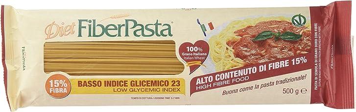 FiberPasta Spaghetti a Basso Indice Glicemico - 10 confezioni da 500 g