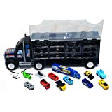 MWG Exports Co Super Huge Long Haul Garage Truck with Stylish Racing Cars , Chinook Helicopters, UFO Aircraft, Construction V