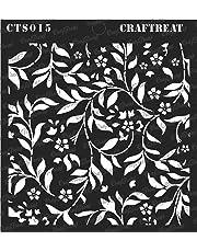 """CrafTreat Flourish Background Stencil 6""""X6"""""""