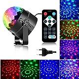 Luces de fiesta activadas por sonido con control remoto Iluminación de DJ, bola de discoteca RBG, lámpara estroboscópica 7 mo