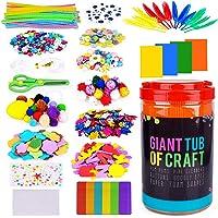 SUNNYPIG 1000PCS DIY Crafts Set pour Enfants Filles Jouets Arts et Artisanat Cadeau pour Les Filles Les Accessoires d…
