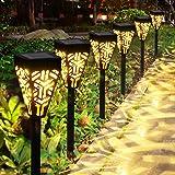 Lampes Solaires Jardin GolWof 6 Pièces Éclairage Solaire Extérieur Étanche Lumière Solaire Extérieure à LED Éclairage Solaire