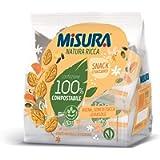 Misura Snack Croccanti Natura Ricca | con Avena, semi di Zucca e Girasole | Confezione da 224 grammi