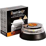 iluminer – Luz de Emergencia homologada por la DGT (IDIADA PC21010314). Autónoma, Base magnética, Modo Linterna. Baliza de pr
