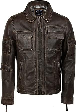 Xposed Genuine Leather Jacket, Classic Motorcycle Jacket, Riding Jacket, Light Weight Coat,