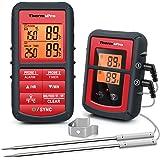 ThermoPro TP08C Termometro da Cucina Digitale con Cottura Senza fili a Doppia Donda per Barbecue Carne Forno Termometro per A