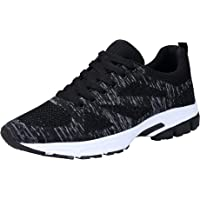 KOUDYEN Donna Uomo Scarpe da Ginnastica Corsa Running Sneakers Sportive Fitness Basse Casual,fz888-black1-43EU