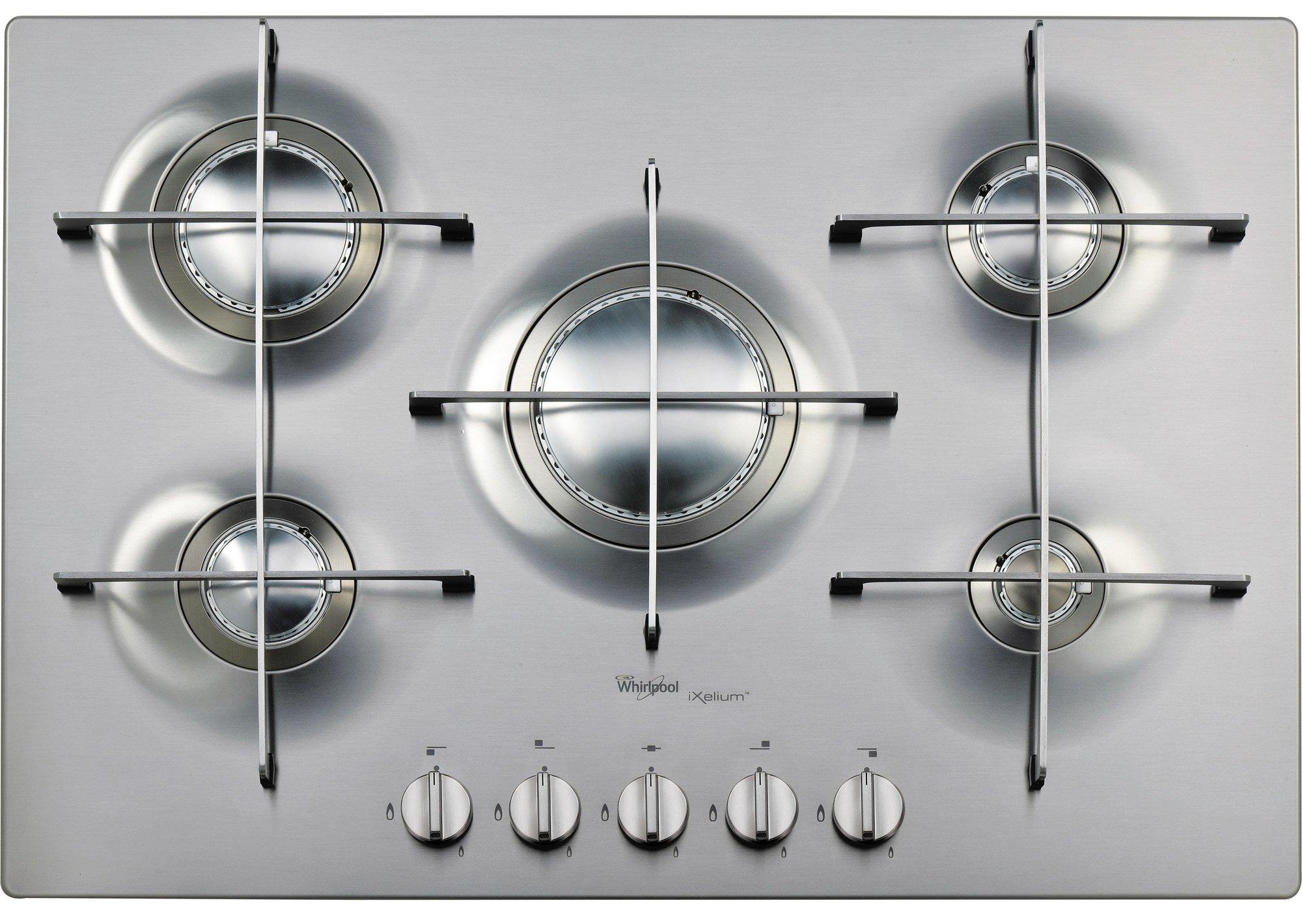 Whirlpool AKT 799/IXL Plaque–Plaque (intégré, gaz, acier inoxydable, rotatif, partie supérieure avant, 0,85m)