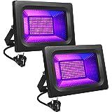 Litake Led-uv-blacklight, 30 W, paarse led-spot, schijnwerper, feestlicht, podiumdecoratie, licht, IP65 waterdicht, blackligh