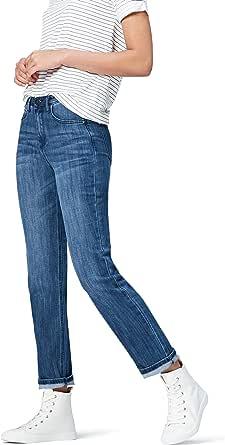 Marchio Amazon - find. Jeans Mom Fit con Macchie di Colore Donna