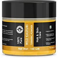Holy Natural - The Wonder of World Pure Wild Kasturi Turmeric Powder for Skin and Face (100 Gm)