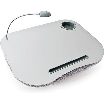 Geschenkidee.de Knie-Tablett mit Gravur personalisierbares Tablett mit Kissen aus feinem Holz für Das Tablet oder den Laptop Schoßtablett für den perfekten Relaxday und Homeoffice iBed 2.0