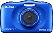 Nikon Coolpix W150 13.2 MP Waterproof Camera with Full HD Recording with 16GB Card and Camera Case (Blue)