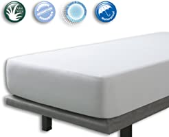 Velfont Terry Towelling Waterproof and Breathable Aloe Vera Mattress Protector - Fitted