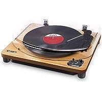 ION Audio Air LP - Vintage USB Bluetooth Plattenspieler mit drei Geschwindigkeitsstufen und Vinyl zu MP3 Konvertierung…