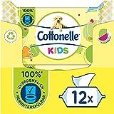 Cottonelle Feuchtes Toilettenpapier, Kids - Fruchtig frischer Duft, Biologisch Abbaubar, Plastikfrei, Wiederverschließbar, Vo
