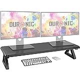 Duronic DM06-2 Réhausseur d'écran/Support pour écran d'Ordinateur/Ordinateur Portable/écran TV - Surface de 81 x 30 cm – Haut